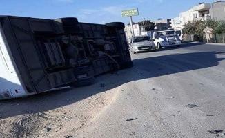 Şanlıurfa'da Polisleri Taşıyan Otobüs Devrildi 10 Yaralı