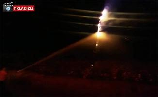Şanlıurfa'da Yıldırım Düştü Yangın Çıktı