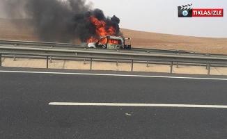 Şanlıurfa'da Otomobil Yangını