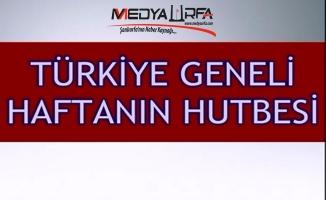 Türkiye Geneli Cuma Hutbesi