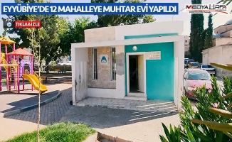 Eyyübiye'de 12 mahalleye muhtar evi yapıldı