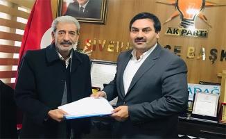 Siverek'te ilk müracaat eski başkan Aydın'dan