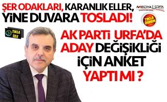 AK Parti Urfa'da anket yaptı mı ?