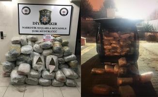 Diyarbakır'da 294 kilogram esrar yakalandı