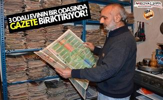 Siverek'te 22 yıldır spor gazetesi biriktiriyor