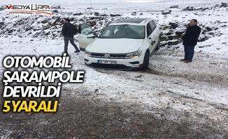 Siverek'te otomobil şarampole devrildi: 5 yaralı