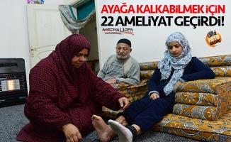 Suriyeli Asya 22 ameliyatla ayağa kalktı