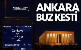 Ankara'da soğuk gece!