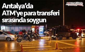 ATM'ye para transferi sırasında soygun