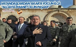 Bakan Akar Cuma namazını Balıklıgöl'de kıldı!