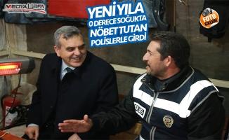 Beyazgül yeni yıla Polislerle birlikte girdi!