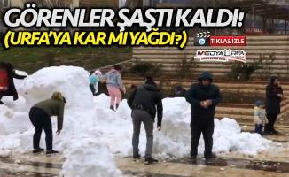 Büyükşehir Karacadağ'dan Urfa'ya kar taşıdı!