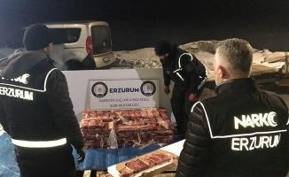 Erzurum'da 217,5 kilogram eroin yakalandı