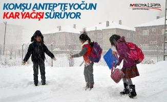 Gaziantep'te eğitime kar engeli