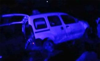 Suruç'ta otomobil şarampole devrildi: 4 yaralı