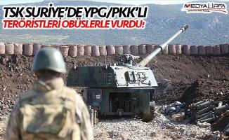 TSK Suriye'de teröristleri obüslerle vurdu