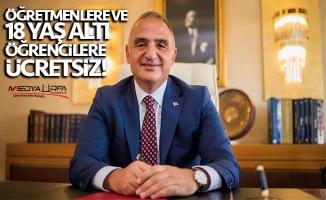 Turizm Bakanı Ersoy'dan öğrencilere müze daveti