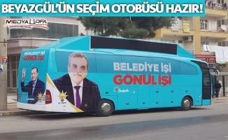 Beyazgül'ün seçim otobüsü hazır!