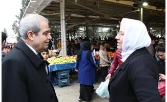 Demirkol semt pazarında vatandaşlarla buluştu!