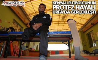 Kenyalı futbolcunun hayali Urfa'da gerçekleşti