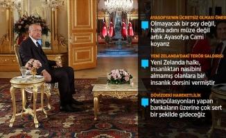 Erdoğan'dan Ayasofya açıklaması