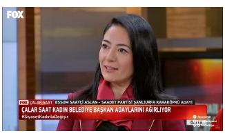 Essum Aslan Fox Tv'ye konuk oldu