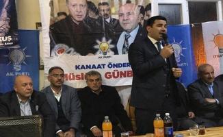 Günbay'dan AK Parti'ye destek toplantısı