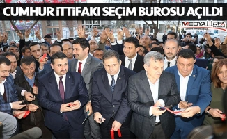 Karaköprü'de Cumhur İttfakı Seçim Bürosu Açıldı