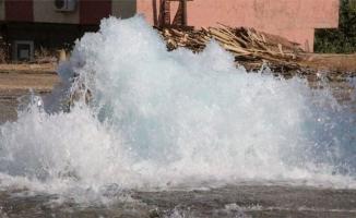 Şanlıurfa'da su borusu patladı