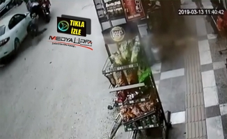 Suruç'ta iki kişinin yaralandığı kaza kamerada