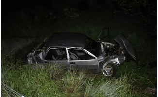 Adana'da otomobil şarampole devrildi: 1 ölü, 3 yaralı