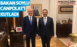 İçişleri Bakanı Soylu Canpolat'ı tebrik etti