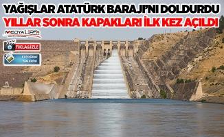 Atatürk Barajı'nın kapakları yıllar sonra ilk kez açıldı!