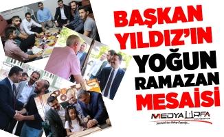 Başkan Yıldız'ın yoğun Ramazan mesaisi