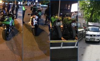 Gaziantep'te 129 araç trafikten men edildi