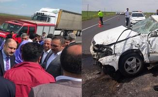 Siverek'te tek taraflı trafik kazası