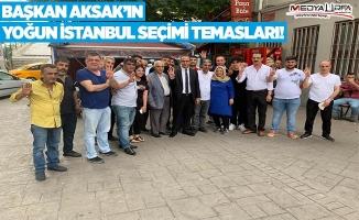 Aksak İstanbul'da AK Parti'ye oy istedi!