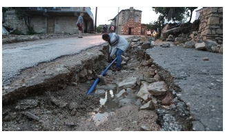 Mut'ta sel felaketi yaşandı