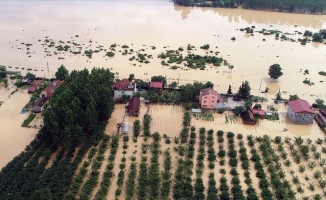 Samsun'da ev ve tarım arazilerini su altında kaldı