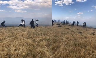 Siverek'te mera yangını