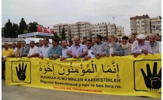 Urfa'da STK'lar Mursi için giyabi cenaze namazı kıldı