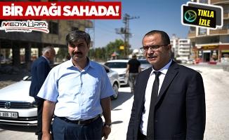 Başkan Aksak, yol çalışmalarını denetledi!