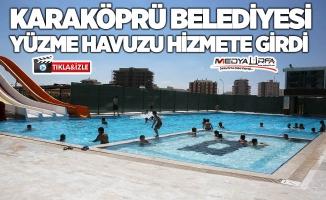 Karaköprü'de yüzme havuzu hizmete girdi