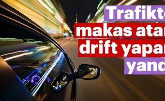 Konya'da drift yapan sürücüye 5 bin lira ceza