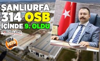 Şanlıurfa OSB, 314 OSB içinde 9. Oldu
