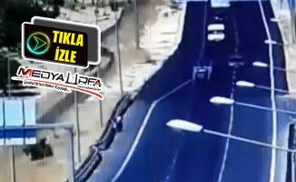 14 kişinin yaralandığı kaza anı güvenlik kamerasında