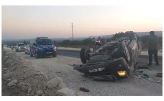 Halfeti'de trafik kazası: 1 yaralı