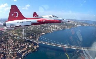 F-16'dan İstanbul'a 'kokpit içi' bakış