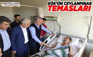 Gök, yaralı hastaları ziyaret etti!