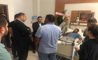 Gülpınar yaralı vatandaşları ziyaret etti